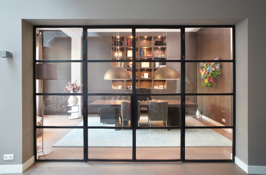 Glazen Wand Woonkamer : Glazen scheidingswand woonkamer 1024x676 balink glas & aluminium